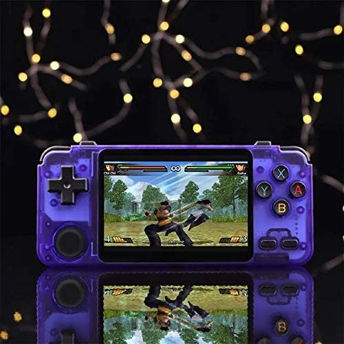 KaDoo RK2020 Retro Handheld Game Console 3.5 Inch IPS Screen for N64//PS1//PSX//CPS3//DC// 64Bit Video Game Player rk2020 Purple