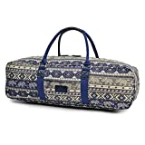 Fremous All-in-one Yoga Mat Bag, Duffel Carrier Patterned Canvas with Pocket and Zipper