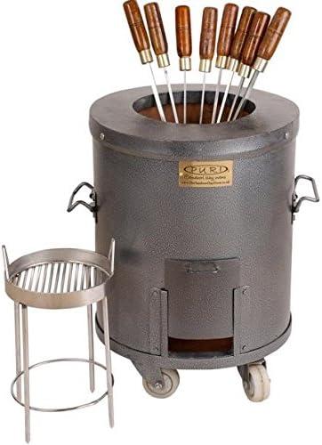 Horno Tandoori casero de carbón de leño de tamaño medio - Modelo ...