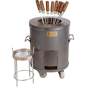 PURI-Medium-mild-steel-charcoal-home-tandoori-oven-Model-MS1-deluxe