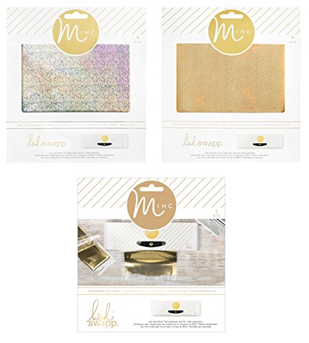 Heidi Swapp - Mini Minc - Transfer Folders & Holographic Gold and Silver Reactive Foil Sheets