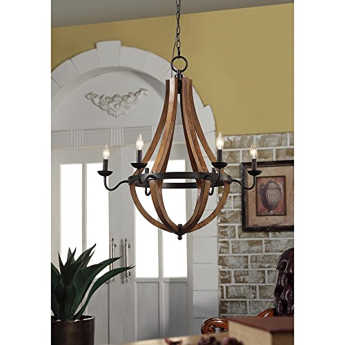 Cheap Vineyard Oil-rubbed Bronze 6-light Chandelier