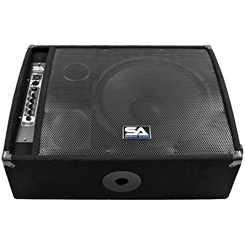 Seismic audio fl 15mp pw 400 watts rms premium powered 2 for 15 inch floor speakers