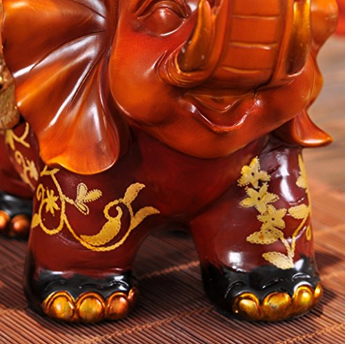 Hyun times European resin tissue box tray pumping an elephant mother napkin box creative luxury living room decoration ornaments by Hyun times tissue box (Image #3)