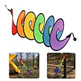oobest Rainbow Wind Curlie Spinner Colorful Hanging Rainbow Wind Twister Outdoor Garden Tent Decoration ColorfulOutdoor Garden Tent Decoration Colorful