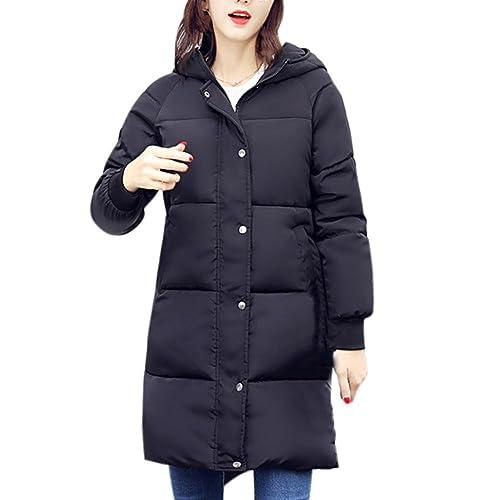 FNKDOR Las mujeres outwear, nuevo Casual más gruesa de invierno Slim Down Lammy Warm Jacket abrigo largo abrigo