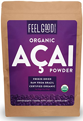 - Organic ACAI Powder (Freeze-Dried) - 16oz Resealable Bag (1lb - 100% Raw Antioxidant Superfood Berry From Brazil - by Feel Good Organics …