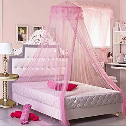 Amazon.com: Princess Bed Mosquito Net Palace Round Canopy Girls Room ...