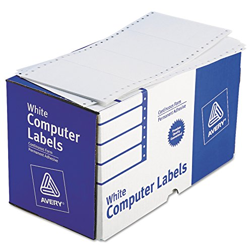 Avery 4076 Dot Matrix Printer Shipping Labels, 1 Across, 2 15/16 x 5, White (Box of 3000)