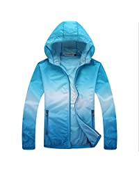 Bonboho Women's Lightweight Waterproof Hooded Outdoor Activewear Rain Jacket