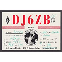 DJ6ZB Franz Josef Bolwin Hamburg Germany QSL Ham Radio postcard 1965