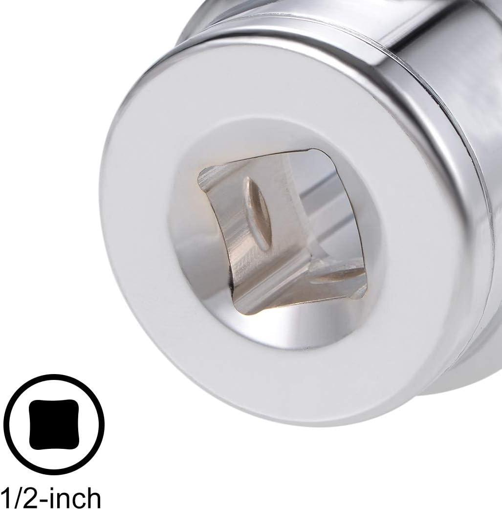 uxcell 1//2-inch Drive E15 Universal Spline Socket Shallow 12 Point Cr-V Steel