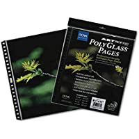 Itoya Art Profolio 14 x 17 Crystal Clear PolyGlass Pages, 10 Pages Per Pack