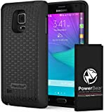 PowerBear Samsung Galaxy Note Edge Extended Battery [6000mAh] & Back Cover & Protective Case (Up to 2.5X Extra Battery Power) - Black [24 Month Warranty & Screen Protector Included]