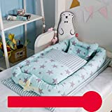 Cotton Detachable Baby Nest,Quilt and Pillow for 0-24 Months Baby (Rabbit),#4