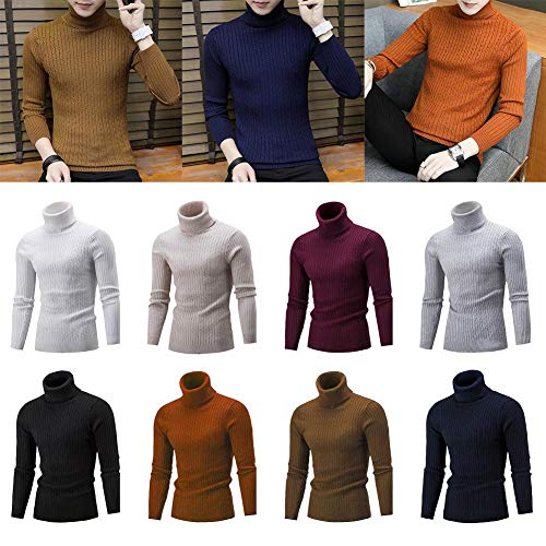 Design Pull Mode Chaud Fanmuran Simple Col Hommes Jersey Couleur Unie Top En Haute Hiver Blanc Tricot Mince Et wqdd41Ex