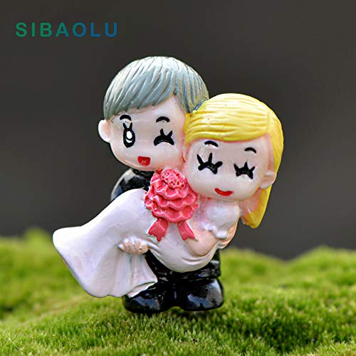 - Bestchoice - Groom embrace bride Miniature Figurine Cartoon wedding Cake home Decoration Character Anime garden figures action model doll
