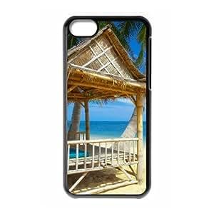 MMZ DIY PHONE CASEALICASE Diy Hard Shell Case Island Beach For iphone 6 4.7 inch [Pattern-1]
