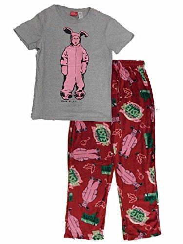 A Christmas Story Pink Bunny Graphic Sleep Set - Medium (Christmas Story Bunny Pajamas)