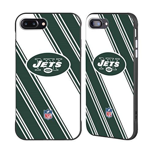 Official NFL Stripes 2017/18 New York Jets Logo Black Fender Case for Apple iPhone 7 Plus / iPhone 8 (Official Nfl New York Jets)