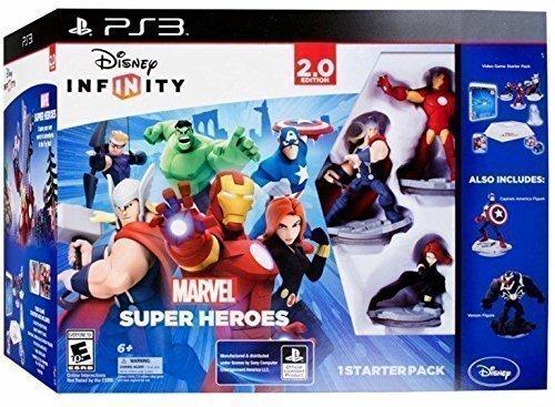 E10 Starter (Disney Infinity Marvel Super Heroes 2.0 PS3 with *Captain America & Venom Figure* Starter Pack)