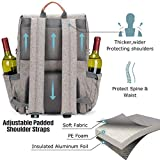 HappyPicnic Picnic Backpack for 4 Persons Insulated