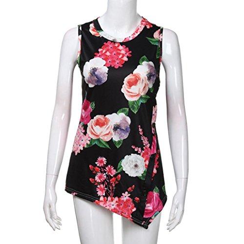 Mujer SANFASHION Para Shirt155 SANFASHION de Bekleidung Damen Negro Poliéster Bailarinas ZrZawq8WS