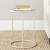 Safavieh Home Collection Shay Silver Accent Table For Sale