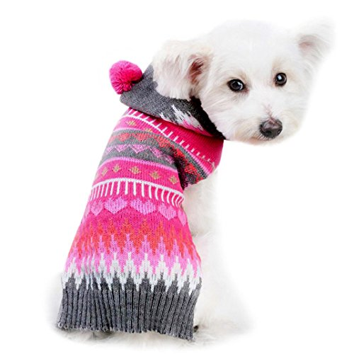 [DEESEE(TM) Christmas Pet Dog Puppy Cute Clothes Puppy Winter Sweater Costume Coat (L)] (Pug Costumes For Christmas)