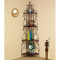 Coaster Furniture Scroll Corner Bookcase