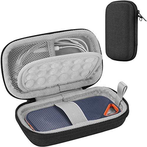 Procase Harde EVAdraagtas voor 500GB 1TB 2TB SanDisk Extreme Pro Portable External SSD Beschermende Schokbestendige Opbergkoffer Zwart
