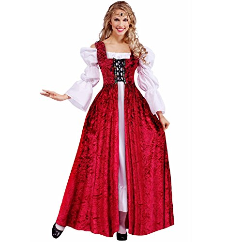 Medieval Lace-Up Gown Costume - Plus Size - Dress Size (Medieval Fancy Dress Plus Size)