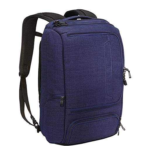 eBags Professional Slim Laptop Backpack for Travel, School & Business - Fits 17 Inch Laptop - Anti-Theft - (Brushed Indigo)