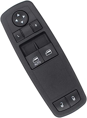 NewYall Black Front Left Driver /& Right Passenger Door Window Switch Control Panel
