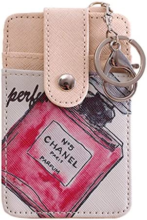 Tarjeta de crédito caso tarjeta de identificación Holder Llaveros Llavero con 2 ranuras para tarjetas, perfume: Amazon.es: Equipaje