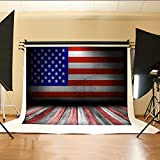 7x5ft Memorial Day Photo Backgrounds Red White Wooden Floor Backdrop for Photography Independence Day American Flag wall Backdrops 641330830