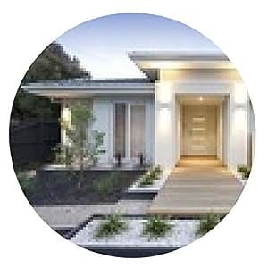 alfombrilla de ratón Blanca exterior de la casa contemporánea - ronda - 20cm