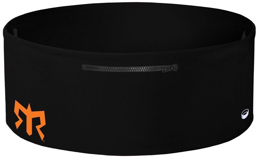 Ragnar Edition Wearable Fitness Waistband Travel & Sports Storage Waist Belt (Black w/Grey Zipper, L/XL)