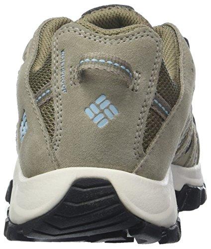 Columbia Canyon Point Waterproof, Chaussures de Randonnée Basses Femme Beige (Pebble, Sky Blue 229)