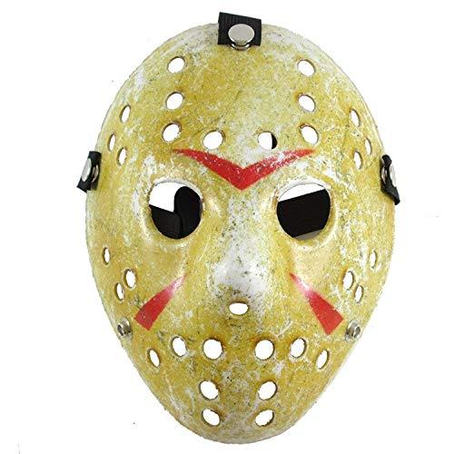 Jason Mask Cosplay Halloween Costume Mask Prop Horror Hockey Party Yellow