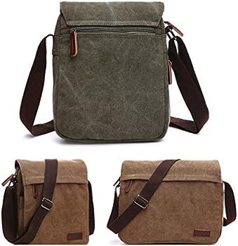 NANJUN Vintage Canvas Messenger Bag Shoulder Bags for Men Women jb007-Blue-l