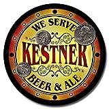 Kestner Family Name Beer & Ale Neoprene Coasters - Set 4pcs