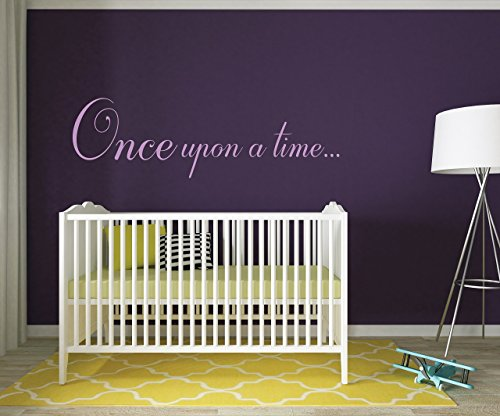 Once Upon a Time... Wall Decal - Quote Wall Decal - Nursery (Deco Decal)
