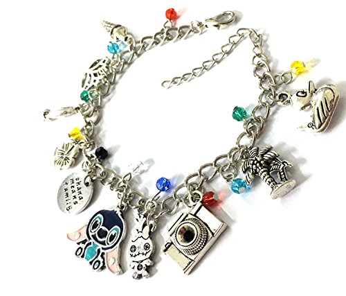 Disney Lilo And Stitch Costumes (BlingSoul Disney Charm Bracelet Lilo Stitch Gifts - Christmas Lilo and Stitch Jewelry For Women)