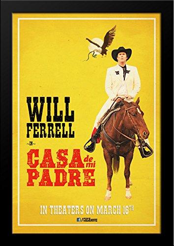 Casa de mi Padre 28x36 Large Black Wood Framed Movie Poster Art - De Casa Poster Mi Padre