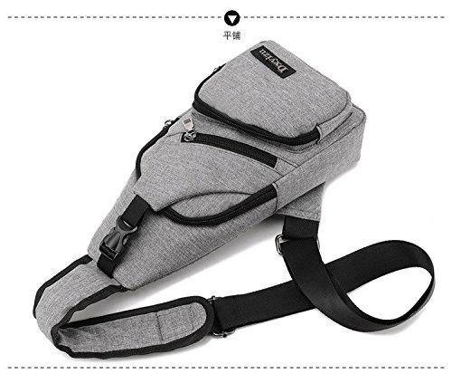hongrun Brust Paket Männer und Frauen Paket ist eine Freizeit Tasche reisen Sport kleine Pakete mit Stil und einfache Brust Pack hHpWOew