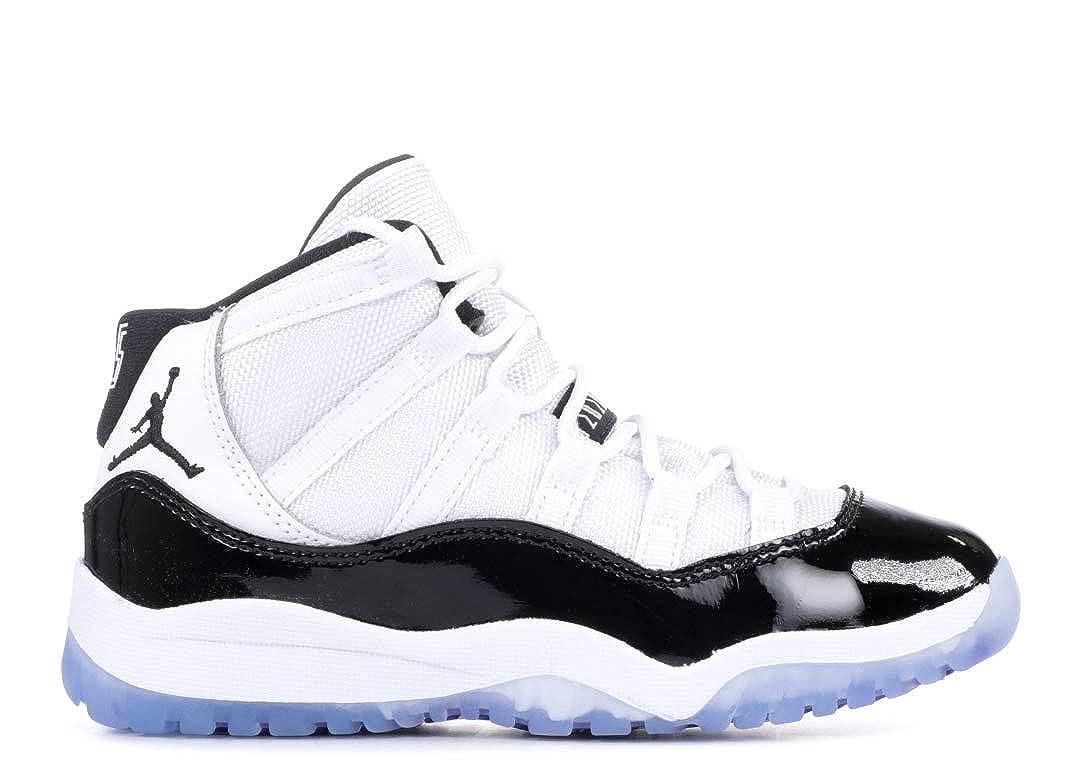 Amazon.com | Jordan Kids Preschool Air Retro 11 Basketball Shoes (1.5, White/Concord) | Sneakers