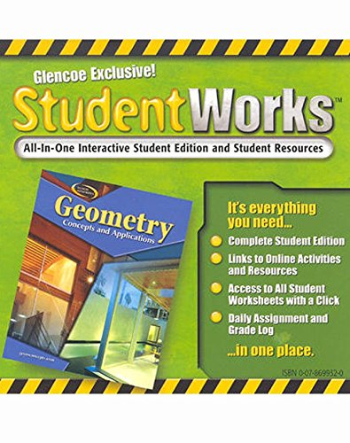 Geometry: Concepts and Applications, StudentWorks CD-ROM (GEOMETRY: CONCEPTS & APPLIC)