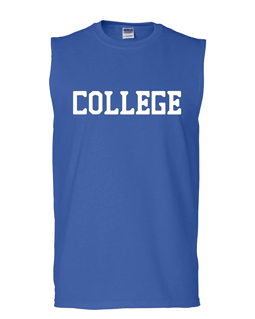 Tee Hunt College Muscle Shirt Frat Fraternity Study Party Student School Sleeveless