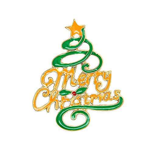 JoJo & Lin Christmas Brooch Pin Merry Christmas Christmas Tree Holiday Brooch Xmas Gift